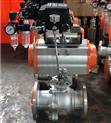 气动铸钢法兰球阀Q641F-16C DN200