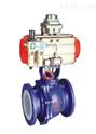 石油化工用衬氟V型气动调节球阀