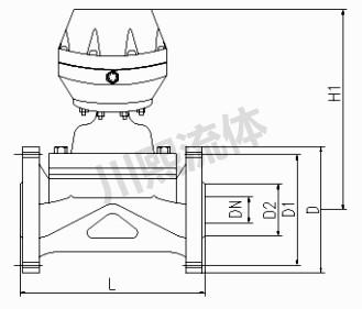 盖米型气动隔膜阀外形尺寸